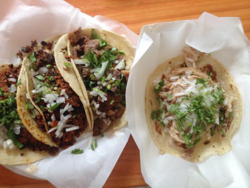 tacos at El Bajio